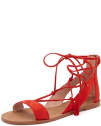 Sandalias romanas de ante rojas