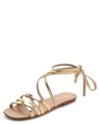 Sandalias romanas de cuero doradas de Splendid