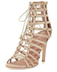 Sandalias romanas de cuero marrón claro de Joie
