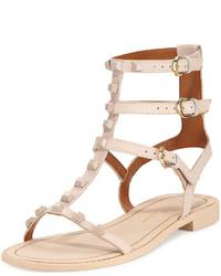 Sandalias romanas de cuero marrón claro de Rebecca Minkoff