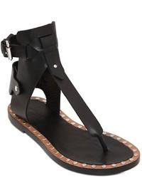 Sandalias romanas de cuero negras de Isabel Marant