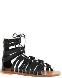 Sandalias romanas de cuero negras de J.Crew