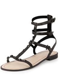 Sandalias romanas de cuero negras de Rebecca Minkoff