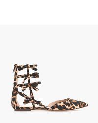 Sandalias romanas de leopardo marrónes de J.Crew
