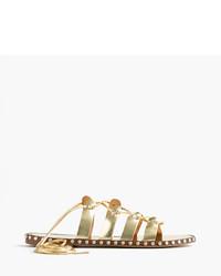 Sandalias romanas doradas de J.Crew