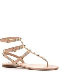 Sandalias romanas marrón claro de Valentino