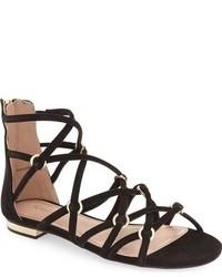 Sandalias romanas negras de Topshop