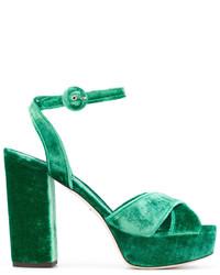 Sandalias verde oscuro de Dolce & Gabbana