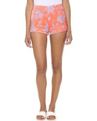 Short à fleurs orange BB Dakota