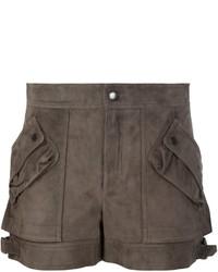 Short en cuir brun Helmut Lang