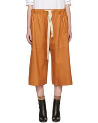 Short en cuir orange Loewe
