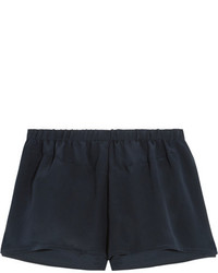 Short en soie bleu marine Araks