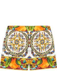 Short imprimé orange Dolce & Gabbana