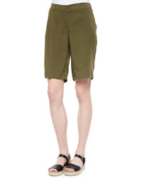 Short olive Eileen Fisher