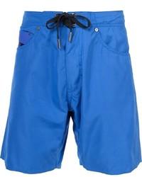 Shorts de baño azules de Diesel