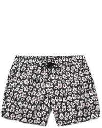 Shorts de baño con print de flores negros de Paul Smith