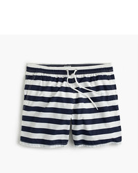 Shorts de baño de rayas horizontales azul marino de J.Crew