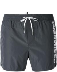 Shorts de baño en gris oscuro de DSQUARED2
