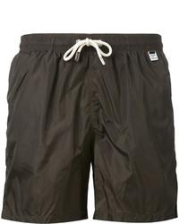 Shorts de baño en marrón oscuro de MC2 Saint Barth