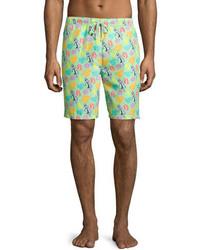 Shorts de baño en verde menta de Peter Millar