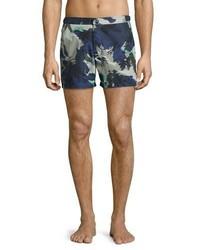 Shorts de baño estampados azul marino de Burberry