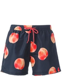 Shorts de baño estampados azul marino de Paul Smith
