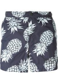 Shorts de baño estampados azul marino de Valentino