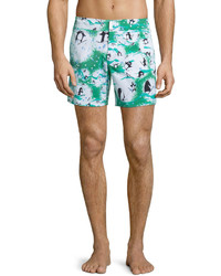 Shorts de baño estampados blancos de Vilebrequin