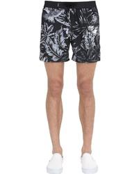 Shorts de baño estampados en gris oscuro de Diesel