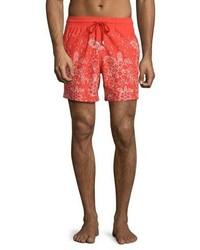 Shorts de baño estampados rojos de Vilebrequin