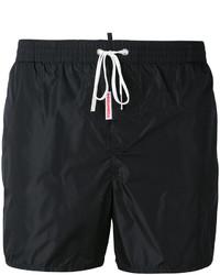 Shorts de baño negros de DSQUARED2