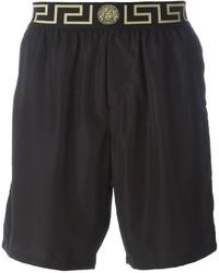 Shorts de baño negros de Versace