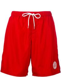 Shorts de baño rojos de Versace