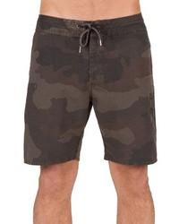 Shorts de baño verde oscuro de Volcom
