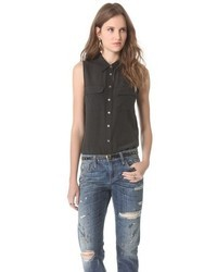 Silk sleeveless button down shirt original 9065166
