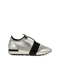 Women's Silver Sneakers by Balenciaga