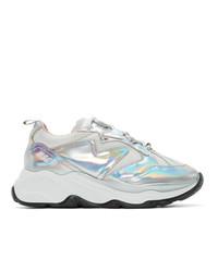 MSGM Silver Attack Sneakers