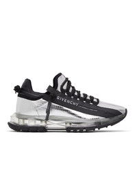 Givenchy Silver Spectre Zip Low Sneakers