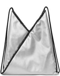 Maison Margiela Mm6 Maison Martin Margiela Silver Faux Leather Backpack