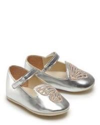 Sophia Webster Babys Bibi Mini Butterfly Metallic Leather Mary Janes