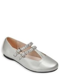 Venettini Toddlers Kids Buckled Patent Leather Flats