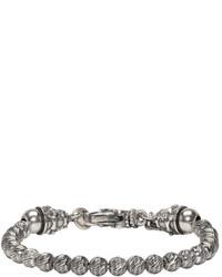 Emanuele Bicocchi Silver Beaded Bracelet