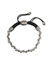 John Varvatos Star USA Skull Bead Bracelet