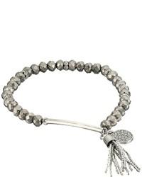 GUESS Stretch Bead Bracelet With Tassel Drop Bracelet