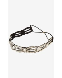 Express Cut Out Beaded Elastic Headband