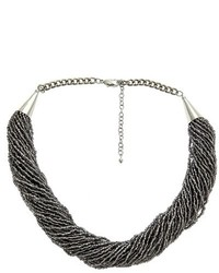 Faf Incorporated Beaded Necklace Silver