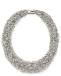 Brunello Cucinelli Monili Beaded Multi Strand Choker Necklace