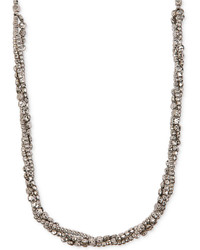 Lucky Brand Silver Tone Beaded Multi Strand Twist Necklace