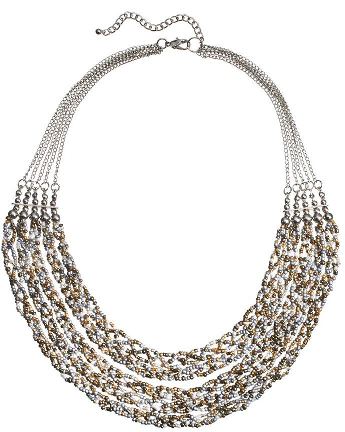 Sonoma Life Style Bead Braided Multistrand Necklace | Where to buy ...
