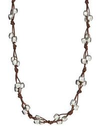 Uno de 50 Bead And Leather Opera Necklace
